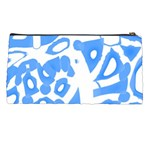Blue summer design Pencil Cases Back