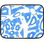 Blue summer design Double Sided Fleece Blanket (Mini)  35 x27 Blanket Back