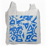 Blue summer design Recycle Bag (One Side) Front