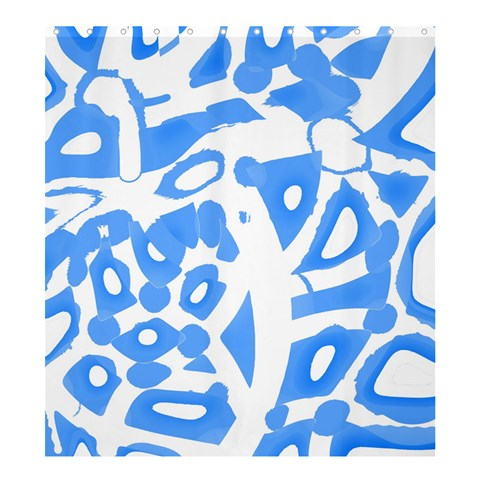 Blue summer design Shower Curtain 66  x 72  (Large)