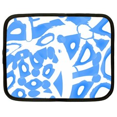 Blue summer design Netbook Case (XL)