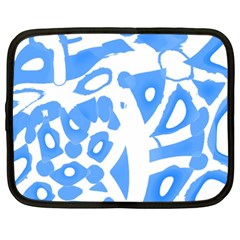 Blue summer design Netbook Case (XXL)