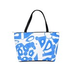 Blue summer design Shoulder Handbags Back
