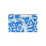 Blue summer design Cosmetic Bag (Small)  Front