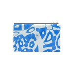 Blue summer design Cosmetic Bag (Small)  Back
