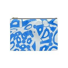 Blue Summer Design Cosmetic Bag (medium)