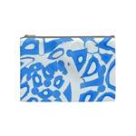 Blue summer design Cosmetic Bag (Medium)  Front