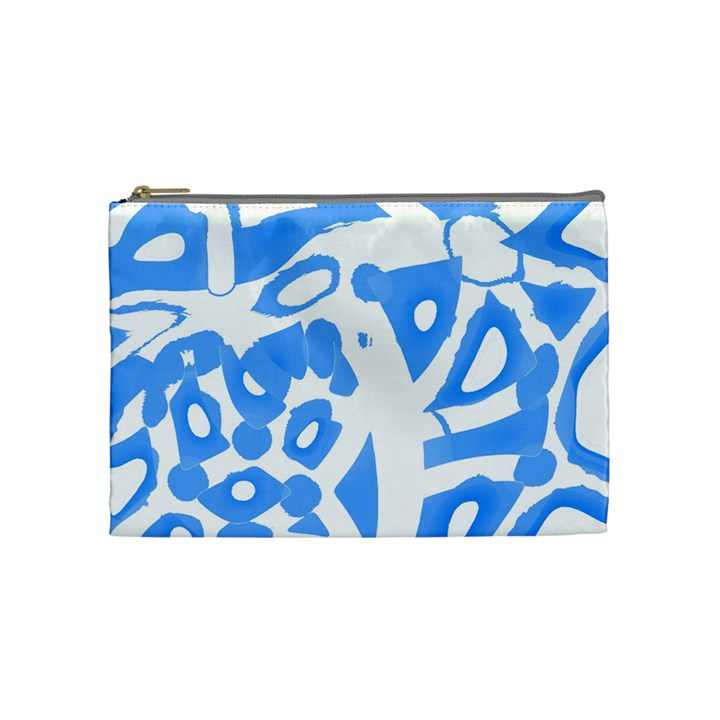 Blue summer design Cosmetic Bag (Medium)