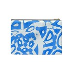 Blue summer design Cosmetic Bag (Medium)  Back