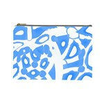 Blue summer design Cosmetic Bag (Large)  Front