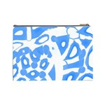 Blue summer design Cosmetic Bag (Large)  Back