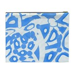 Blue summer design Cosmetic Bag (XL) Back