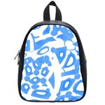 Blue summer design School Bags (Small)  Front