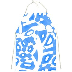 Blue summer design Full Print Aprons