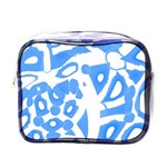Blue summer design Mini Toiletries Bags Front