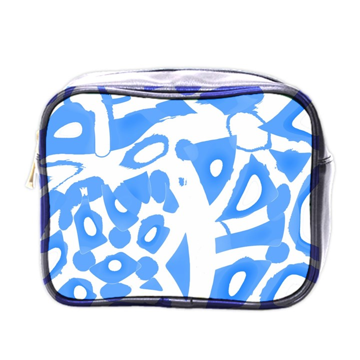 Blue summer design Mini Toiletries Bags