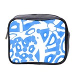Blue summer design Mini Toiletries Bag 2-Side Front