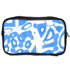 Blue Summer Design Toiletries Bags 2 Side