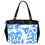 Blue summer design Office Handbags (2 Sides)  Back