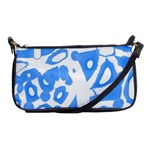 Blue summer design Shoulder Clutch Bags Front