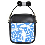 Blue summer design Girls Sling Bags Front