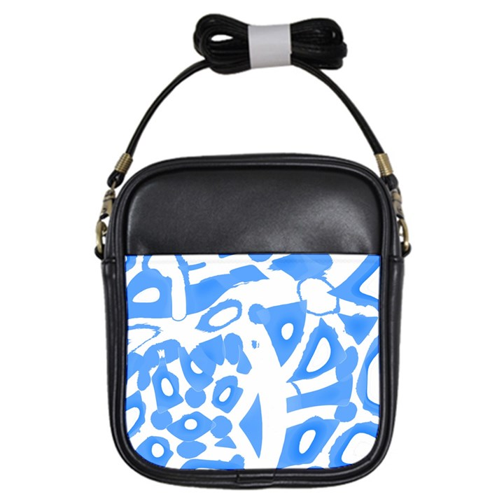 Blue summer design Girls Sling Bags