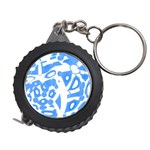 Blue summer design Measuring Tapes Front