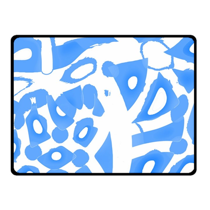 Blue summer design Fleece Blanket (Small)