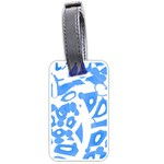 Blue summer design Luggage Tags (Two Sides) Back