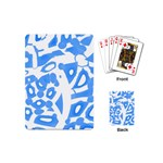 Blue summer design Playing Cards (Mini)  Back