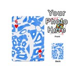 Blue summer design Playing Cards 54 (Mini)  Front - Heart6