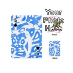 Blue summer design Playing Cards 54 (Mini)  Front - Spade5