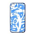 Blue summer design Apple iPhone 4 Case (Black) Front