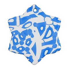 Blue summer design Ornament (Snowflake)