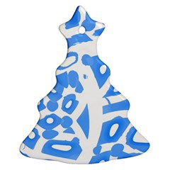 Blue Summer Design Ornament (christmas Tree)