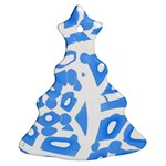 Blue summer design Christmas Tree Ornament (2 Sides) Front
