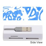 Blue summer design Memory Card Reader (Stick)  Front