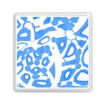 Blue summer design Memory Card Reader (Square)  Front