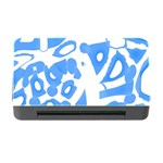 Blue summer design Memory Card Reader with CF Front