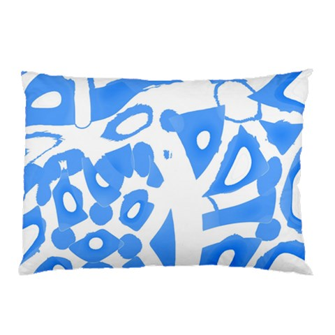 Blue summer design Pillow Case (Two Sides)