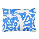 Blue summer design Pillow Case (Two Sides) Back