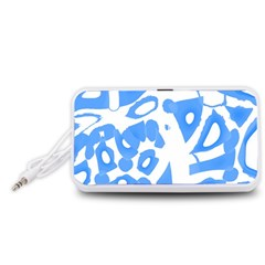Blue summer design Portable Speaker (White)