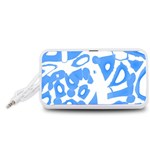 Blue summer design Portable Speaker (White)  Front