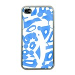 Blue summer design Apple iPhone 4 Case (Clear) Front