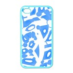 Blue summer design Apple iPhone 4 Case (Color) Front