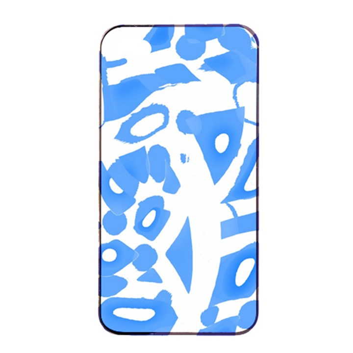 Blue summer design Apple iPhone 4/4s Seamless Case (Black)