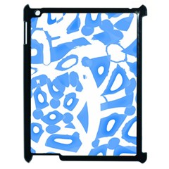 Blue summer design Apple iPad 2 Case (Black)