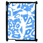 Blue summer design Apple iPad 2 Case (Black) Front