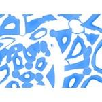 Blue summer design GIRL 3D Greeting Card (7x5) Front