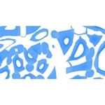 Blue summer design #1 MOM 3D Greeting Cards (8x4) Back
